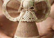 Mira como hacer angeles de navidad en materiales variados