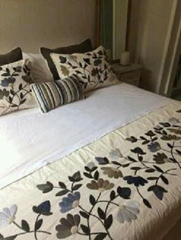 como hacer colchas para cama bordado