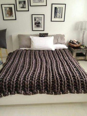 como hacer colchas para cama tejida con trapillo