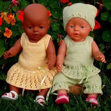 como hacer ropa para muñecas bebes niño y niña