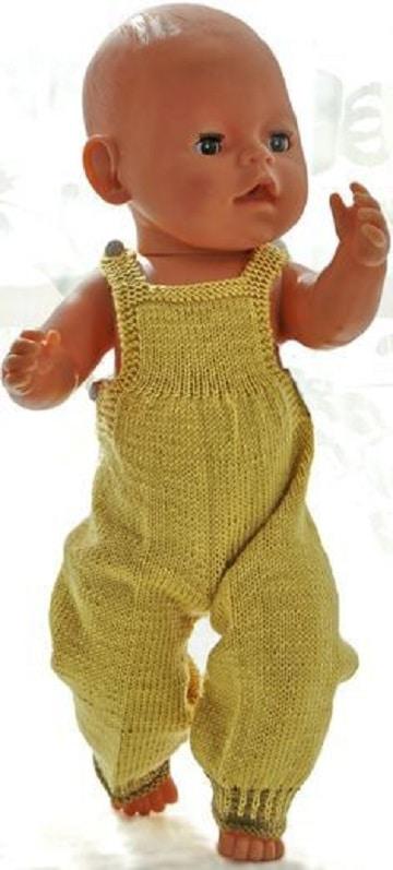 como hacer ropa para muñecas bebes overol