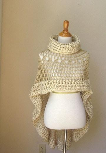 como hacer una capa tejida para mujer