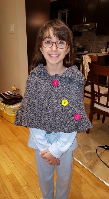 como hacer una capa tejida para niñas