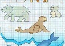 Los dibujos en cuadricula de animales para tus proyectos