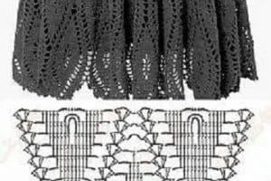 Patrones y diseños de faldas tejidas a gancho a la moda
