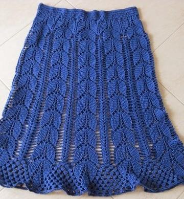 47a3d0ab246 Patrones y diseños de faldas tejidas a gancho a la moda