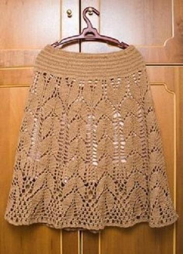 faldas tejidas a gancho juvenil