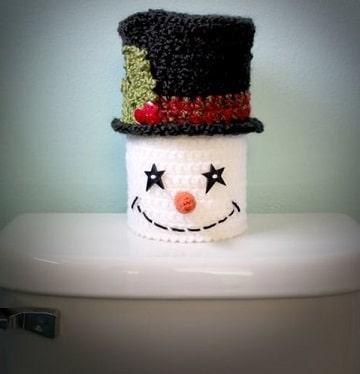 figuras navideñas tejidas a crochet para el baño