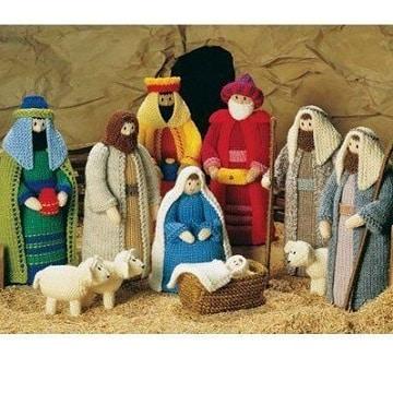 figuras navideñas tejidas a crochet pesebre