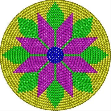 figuras para mochilas wayuu flor