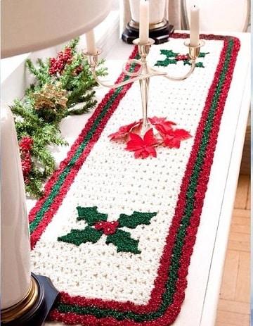 Los manteles navide os a crochet para mesas encantadoras - Manteles navidenos ...
