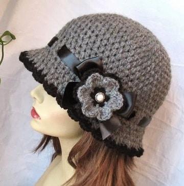 manualidades en crochet para vender sombrero