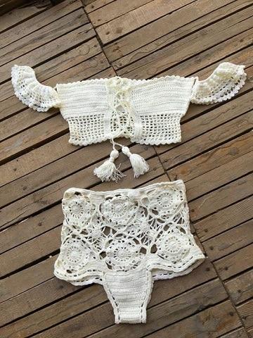 modelos de trajes de baños tejidos dos piezas