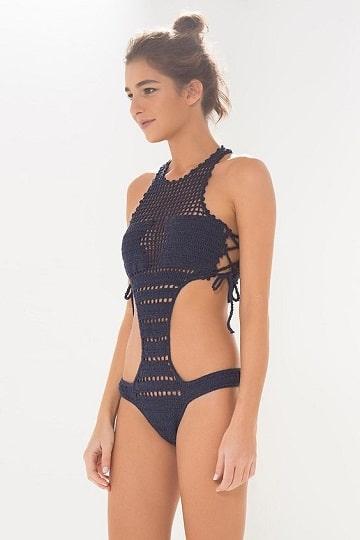 modelos de trajes de baños tejidos una pieza