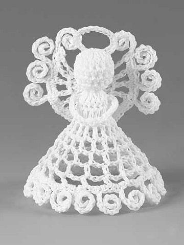 motivos navideños a crochet angel