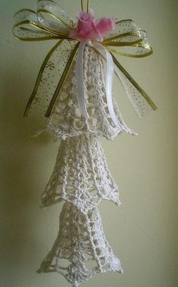 motivos navideños a crochet campana