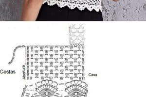 Compartimos contigo los patrones de top a crochet modernos