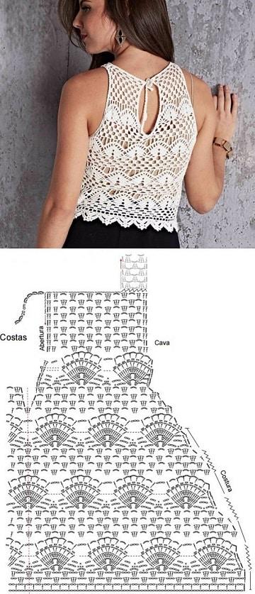 patrones de top a crochet ideas