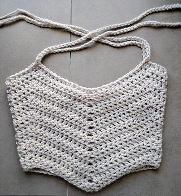 patrones de top a crochet pequeños