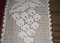 Diseños de tapetes de ganchillo rectangulares para muebles