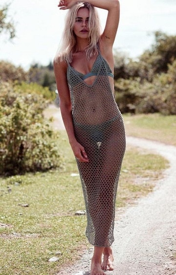 vestidos al crochet para playa largo