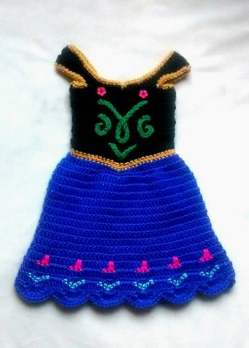 vestidos de ganchillo para bebes ana