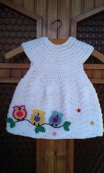 vestidos de ganchillo para bebes diseños