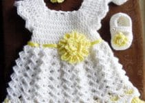 Los vestidos de nena a crochet para que luzcan como muñecas