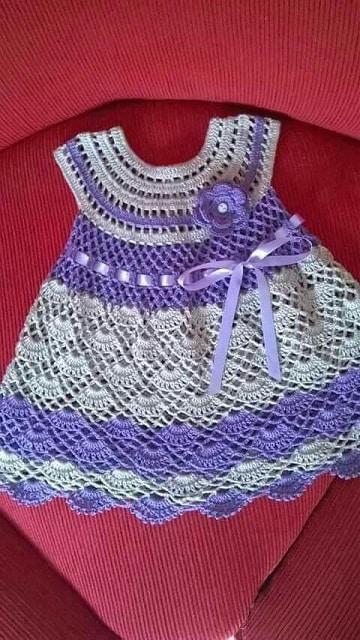 vestidos de nena a crochet ideas