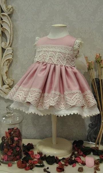 vestidos de princesas para bebes con encaje