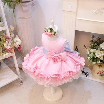 vestidos de princesas para bebes rosa