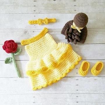vestidos tejidos para niña recien nacida princesas disney