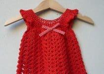 Diseños lindos de vestidos tejidos para niña recien nacida