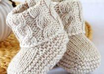 Diseños lindos y variados de zapatitos de bebe a palillos