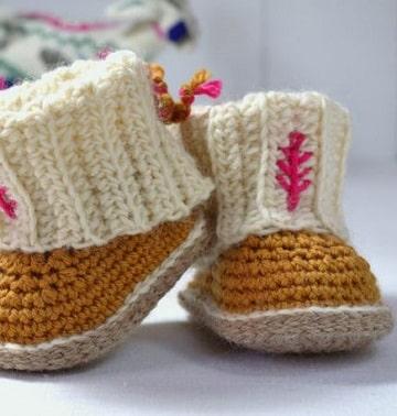 zapatitos de bebe a palillos diseño