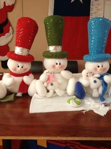 adorables muñecos navideños paso a paso