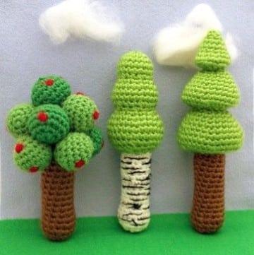 arboles tejidos al crochet paso a paso