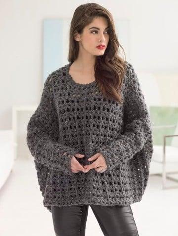 blusones tejidos a crochet en gris