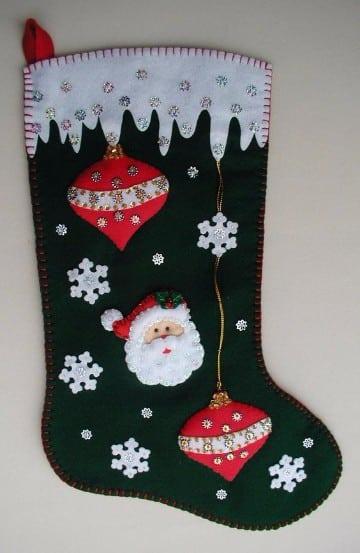 botas navideñas de foami para niños