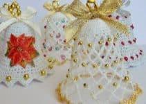 Diferentes procesos para hacer campanas tejidas a crochet
