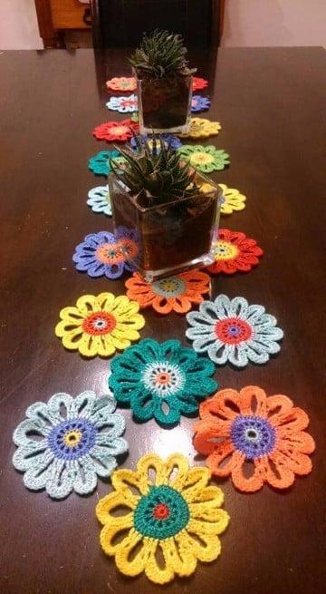 centros de mesa tejidos a crochet con ganchillo