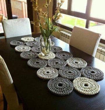centros de mesa tejidos a crochet faciles