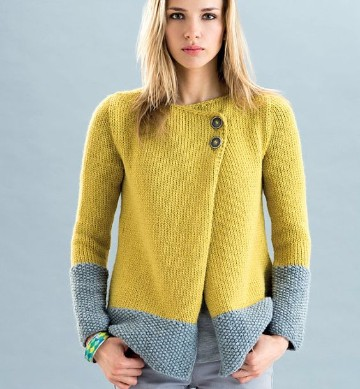 chaquetas tejidas a crochet dos colores