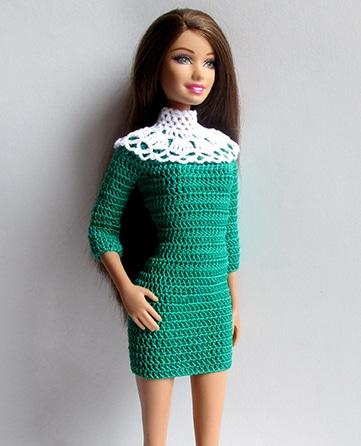 como hacer vestidos tejidos para barbie