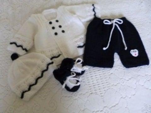 conjuntos tejidos para bebes recien nacidos elegantes