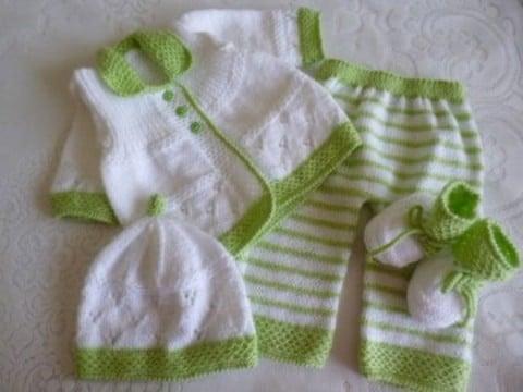 conjuntos tejidos para bebes recien nacidos paso a paso