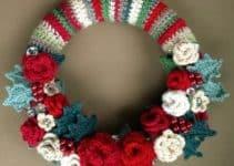 Las coronas navideñas a crochet para ambientes acogedores