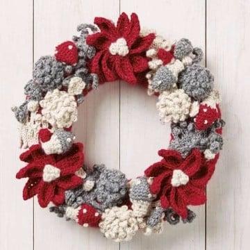coronas navideñas a crochet paso a paso