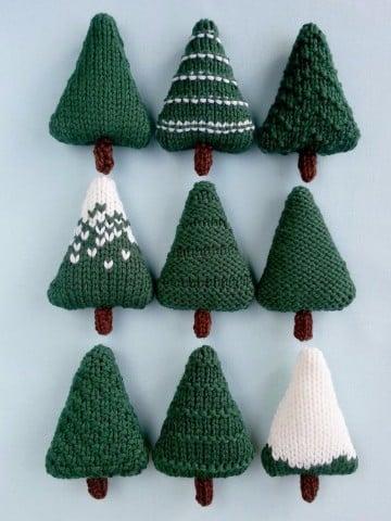 creativos pinitos de navidad al crochet