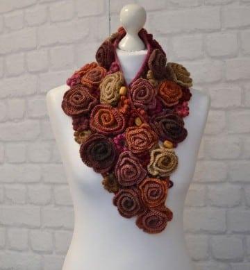 cuellos a crochet para mujer de flores